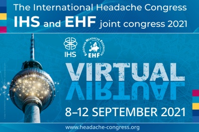 IHC 2021 – International Headache Congress – IHS and EHF joint congress 2021: Headache science to optimise patient care