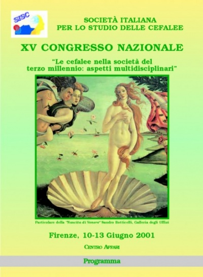 "XV National SISC Congress - ""Headache in the Third Millennium Society: multidisciplinary aspects"""