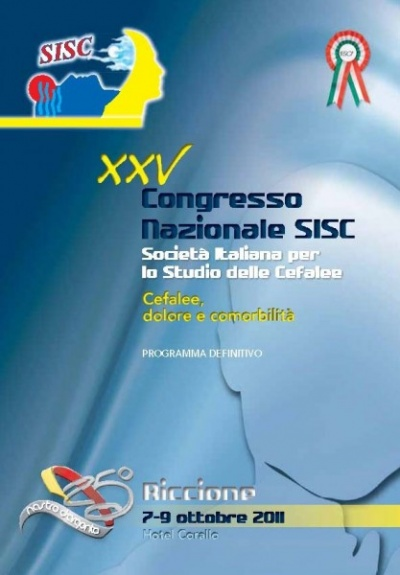 XXV National SISC Congress - Headache, pain e comorbidity