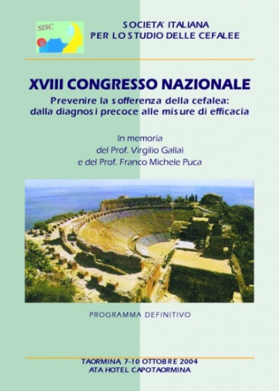 XVIII National SISC Congress - Prevention of headache suffering: from early diagnosis to effective measures