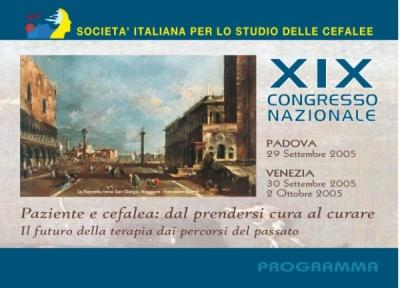 XIX Congresso Nazionale SISC - Paziente e cefalea: dal prendersi cura al curare - Il futuro della terapia dai percorsi del passato